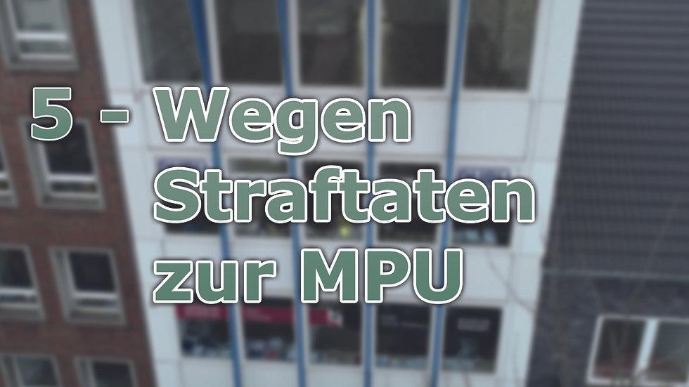 5 - Wegen Straftaten zur MPU - Unsere Erfolgsgeschichten 2