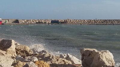Woeste zee Benalmádena