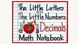 Math Notebook Decimals