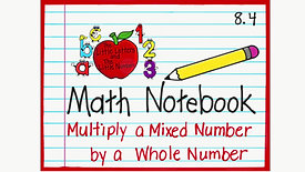Multiply Mixed Number and a Whole Number 8.4