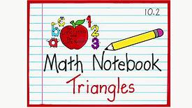 Math Notebook Triangles