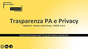 Modulo 3 - Norme sulla Privacy #1