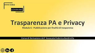 Modulo 6 - Pubblicazione per finalita di trasparenza
