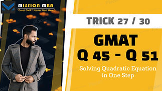 Trick 27 Solving Quadratic Eqution in 1 step