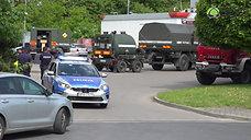Akcja saperska na stacji paliw w Trzebnicy