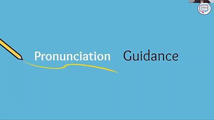 Pronunciation Guidance