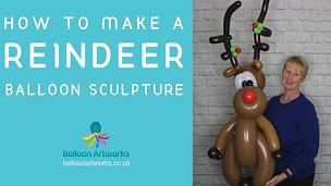 Rudolph Reindeer balloon tutorial