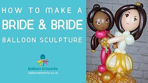 How to make a bride and bride balloon centrepiece