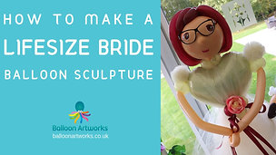 How to make a lifesize balloon bride