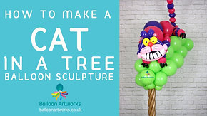 Smiling cat in a Tree Balloon Tutorial