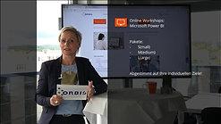 Werbevideo für die Power BI Online Workshops der ORBIS AG