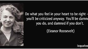 Brunner's-ology Episode 12: Eleanor Roosevelt