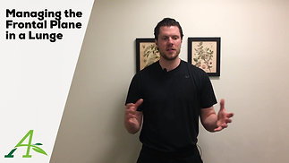 Managing the Frontal Plane in a Lunge