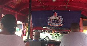 Apia Samoa public bus ride