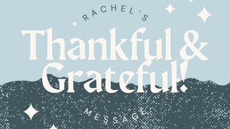 Rachel Thanksgiving Video 2020