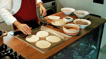 Taller Street Food America latina de taco de carnitas (México)