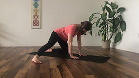 Dynamic Child's Pose with Leg Extended