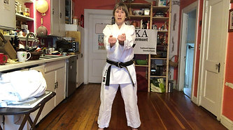 KITCHEN KARATE LESSON #3_Punching_Basic Forward Punch