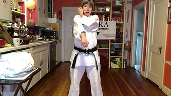KITCHEN KARATE LESSON #4_Blocking_Down Block