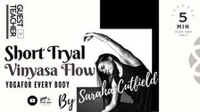 "ゲスト講師:Sarah Cutfield】 ""Vinyasa Flow"""