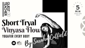 """ゲスト講師:Sarah Cutfield】 """"Vinyasa Flow"""""""