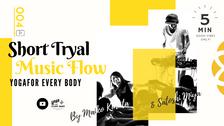 お試し④】SHORT MUSIC FLOW  -ミュージックフローヨガ- by Maiko Kurata&DJ Satoshi Miya