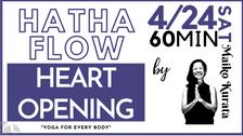 4/24 Hatha yoga (Heart opening) by Maiko Kurata