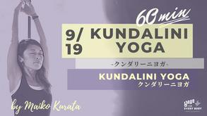 9/18 Kundalini yoga by Maiko