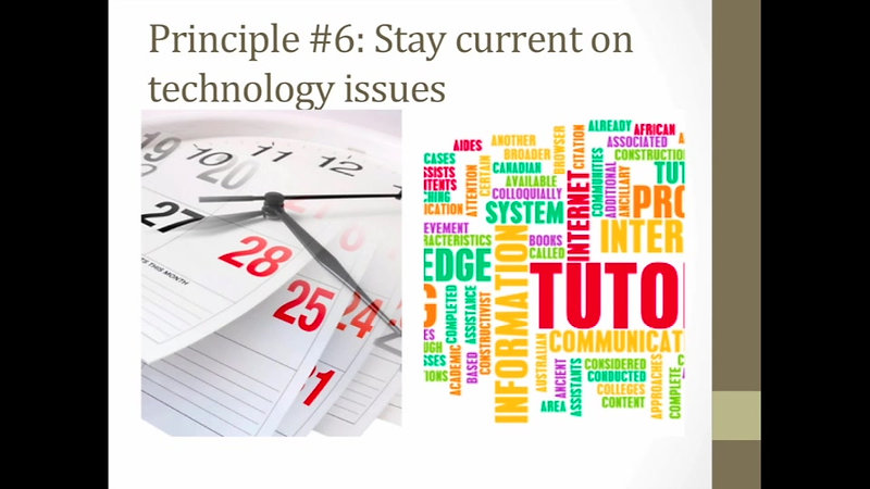 Guiding Principles of ITDE