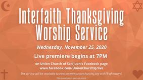 Interfaith Thanksgiving Worship Service 2020