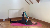 Pilates with the stretch band