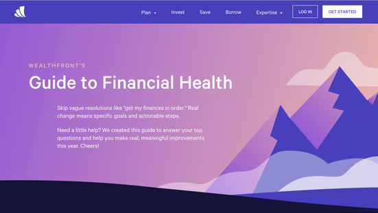 Wealthfront's Guide to Financial Health