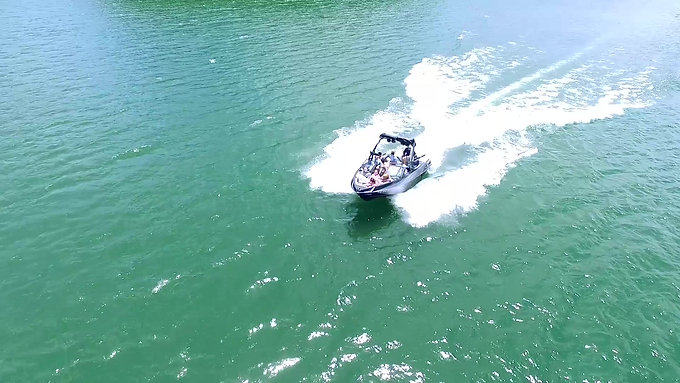 Drones iVue Video | Wake Surfing on Lake Allatoona