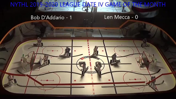 NYTHL 2019-2020 League Date IV Game of the month Bob D'Addario -vs- Len Mecca