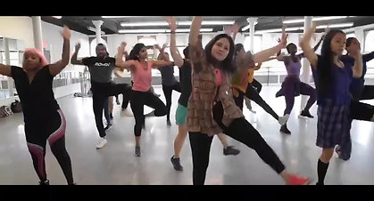 Pooja Uberoi at an Afro Bollywood Class in NYC