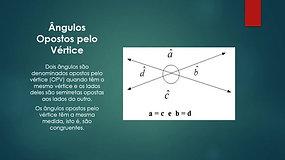 7º Ano - Matemática - Ângulos e Triângulos