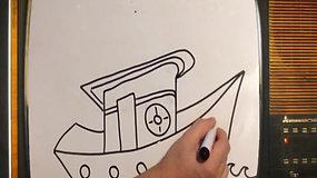 Desenho Barco - Oficina de Arte