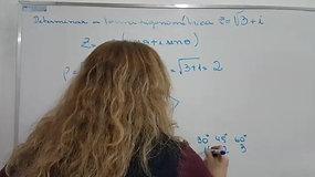 3º Em A E B - Matemática - Forma Trigonométrica - Números Complexos II