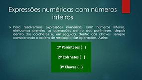 7º Ano - Matemática - Divisão E Expressões Numéricas de nº Inteiros