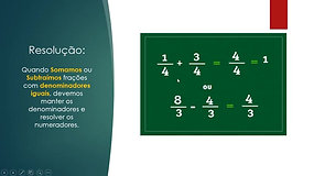 7º Ano - Matemática - Operações com Frações