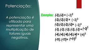 7º Ano - Matemática - Adição, Subtração, Multiplicação e Potenciação de nº Inteiros