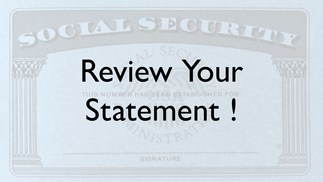 Review Your Statement!
