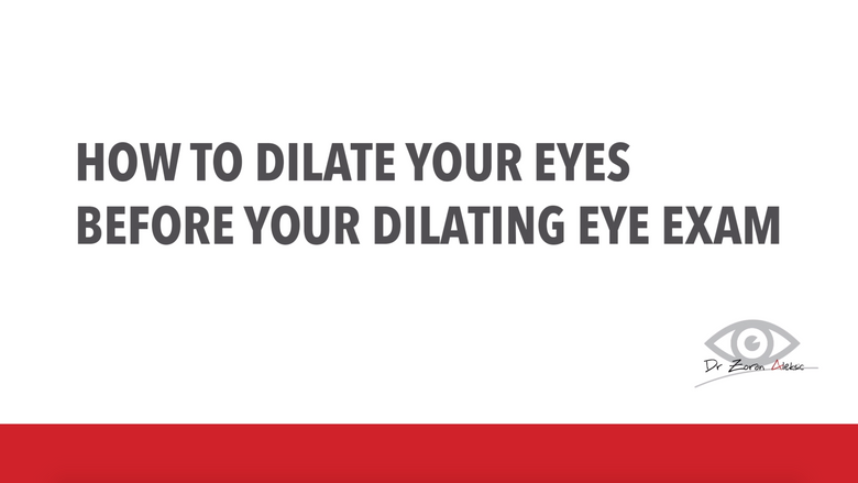 Dilating Eye Exam