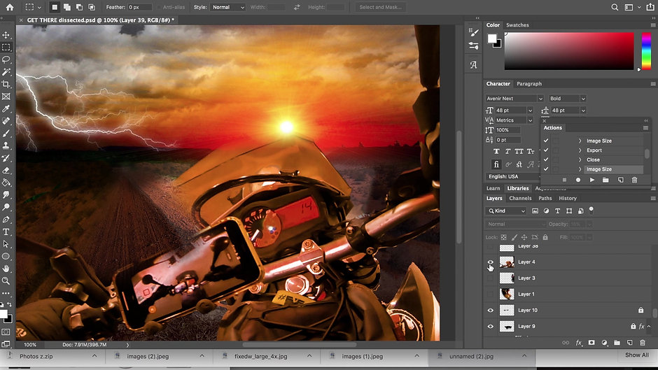 How To Make Wild Artistic Scenes From Your Moto Pics