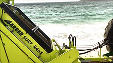 Caribbean Sargassum Cleanup with the Barber Surf Rake Beach Cleaner