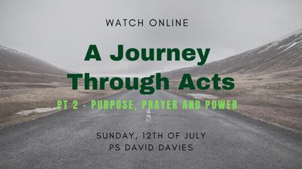 Purpose, Prayer and Power
