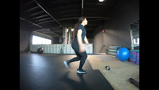 Lunge with hop (each leg)