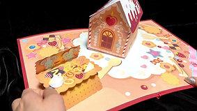 お菓子の家の飛び出す絵本