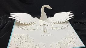 白鳥の仕掛け絵本