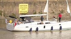 Gabrielle leaving Portishead marina - HD 720p 4.43min